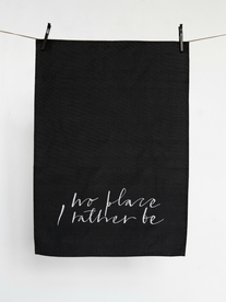 Kitchen towel - Rather be black